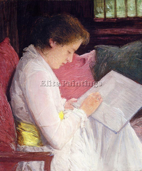 WEIR JULIAN ALDEN THE LACE MAKER ARTIST PAINTING REPRODUCTION HANDMADE OIL REPRO