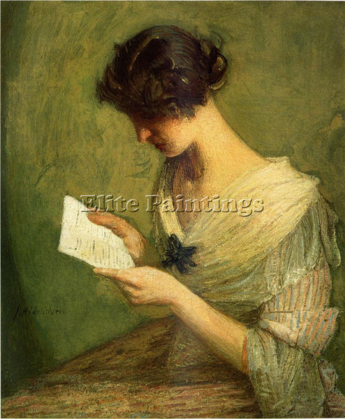 WEIR JULIAN ALDEN THE LETTER ARTIST PAINTING REPRODUCTION HANDMADE CANVAS REPRO