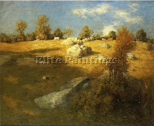 WEIR JULIAN ALDEN UPLAND PASTURE ARTIST PAINTING REPRODUCTION HANDMADE OIL REPRO