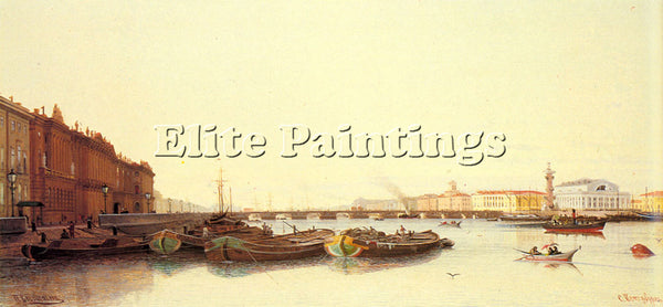 RUSSIAN WERETSHCHAGIN PIOTR PETROVITCH A VIEW OF ST PETERSBURG PAINTING HANDMADE