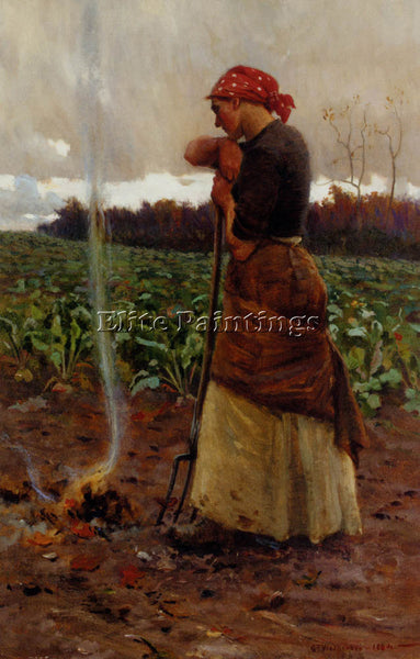 WETHERBEE GEORGE FAULKNER THE HARVEST IS PAST THE SUMMER IS ENDED ARTIST CANVAS