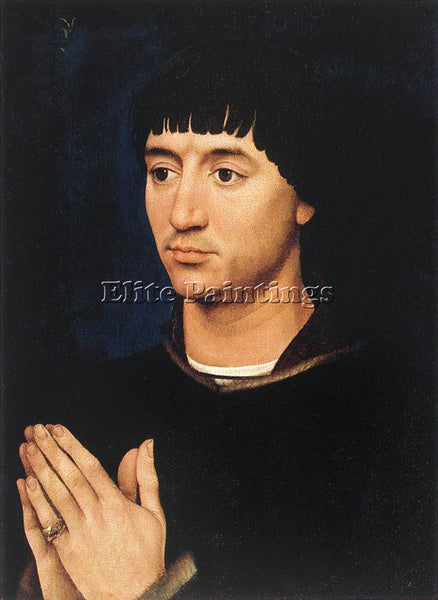 VAN DER WEYDEN PORTRAIT DIPTYCH OF JEAN DE GROS RIGHT WING ARTIST PAINTING REPRO