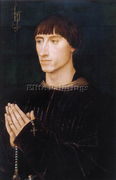 VAN DER WEYDEN PORTRAIT DIPTYCH OF PHILIPPE DE CROY RIGHT WING PAINTING HANDMADE