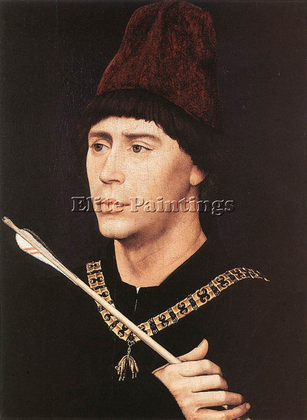 VAN DER WEYDEN PORTRAIT OF ANTONY OF BURGUNDY C1461 ARTIST PAINTING REPRODUCTION