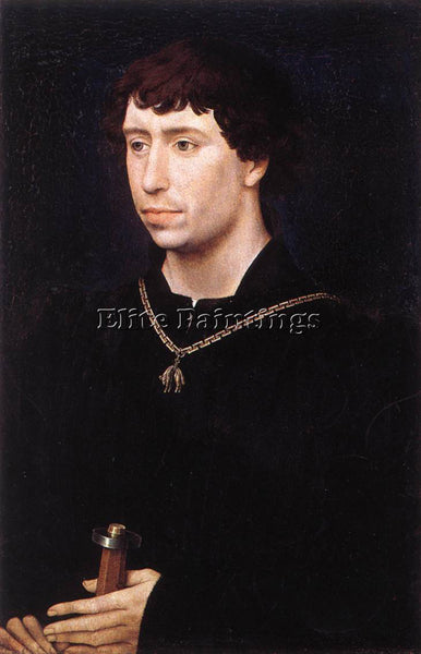 VAN DER WEYDEN PORTRAIT OF CHARLES THE BOLD C 1460 ARTIST PAINTING REPRODUCTION