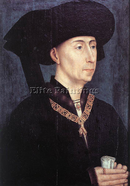 VAN DER WEYDEN PORTRAIT OF PHILIP THE GOOD ARTIST PAINTING REPRODUCTION HANDMADE