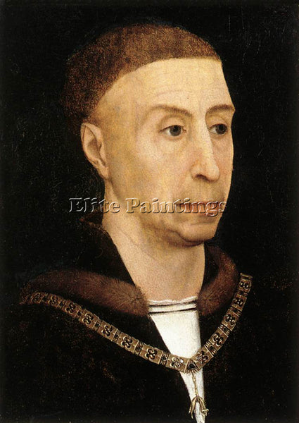 VAN DER WEYDEN PORTRAIT OF PHILIP THE GOOD C1520 ARTIST PAINTING HANDMADE CANVAS