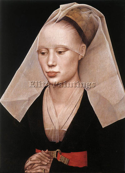 VAN DER WEYDEN PORTRAIT OF A LADY C1455 ARTIST PAINTING REPRODUCTION HANDMADE