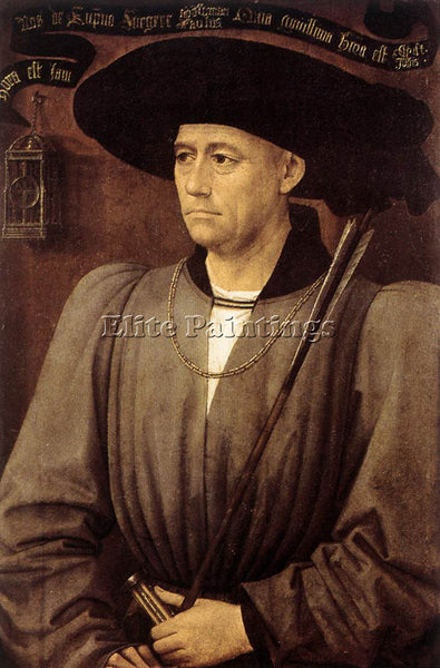 VAN DER WEYDEN PORTRAIT OF A MAN C1450 ARTIST PAINTING REPRODUCTION HANDMADE OIL