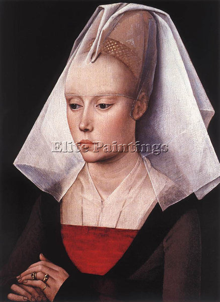 VAN DER WEYDEN PORTRAIT OF A WOMAN C1464 ARTIST PAINTING REPRODUCTION HANDMADE