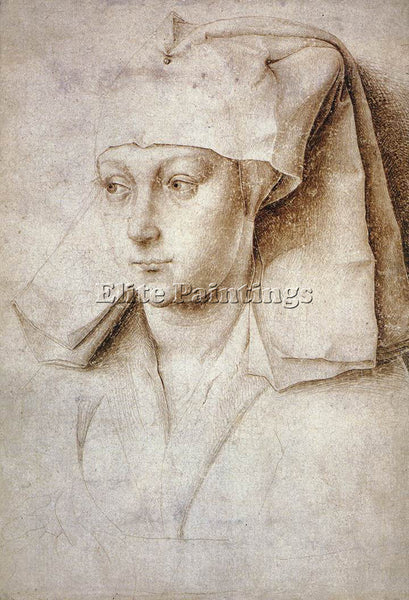 VAN DER WEYDEN PORTRAIT OF A YOUNG WOMAN C1440 ARTIST PAINTING REPRODUCTION OIL