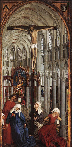 VAN DER WEYDEN SEVEN SACRAMENTS CENTRAL PANEL ARTIST PAINTING REPRODUCTION OIL