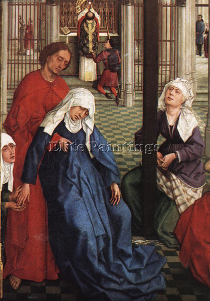 VAN DER WEYDEN SEVEN SACRAMENTS CENTRAL PANEL DETAIL1 ARTIST PAINTING HANDMADE