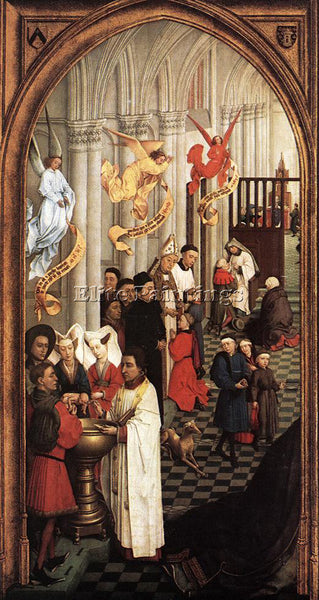 VAN DER WEYDEN SEVEN SACRAMENTS LEFT WING ARTIST PAINTING REPRODUCTION HANDMADE