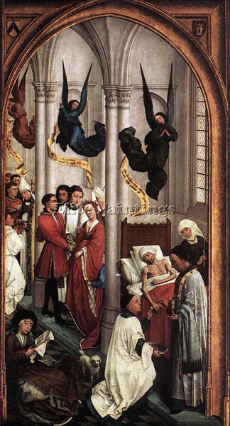 VAN DER WEYDEN SEVEN SACRAMENTS RIGHT WING ARTIST PAINTING REPRODUCTION HANDMADE
