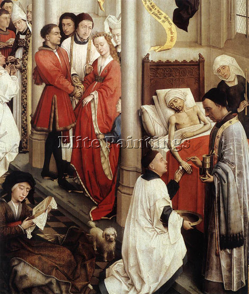 VAN DER WEYDEN SEVEN SACRAMENTS RIGHT WING DETAIL1 ARTIST PAINTING REPRODUCTION