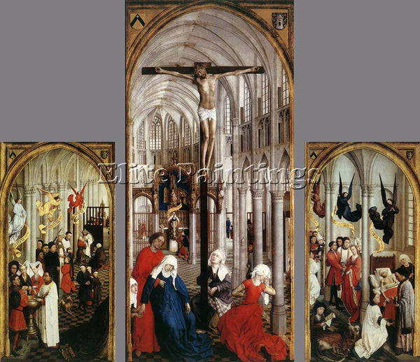 VAN DER WEYDEN SEVEN SACRAMENTS ALTARPIECE ARTIST PAINTING REPRODUCTION HANDMADE