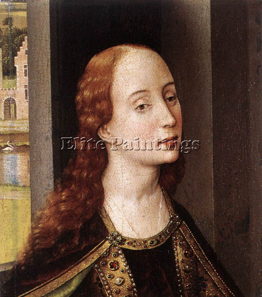 VAN DER WEYDEN ST CATHERINE ARTIST PAINTING REPRODUCTION HANDMADE OIL CANVAS ART