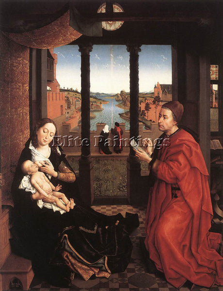 VAN DER WEYDEN ST LUKE DRAWING A PORTRAIT OF THE MADONNA UNDATED ARTIST PAINTING