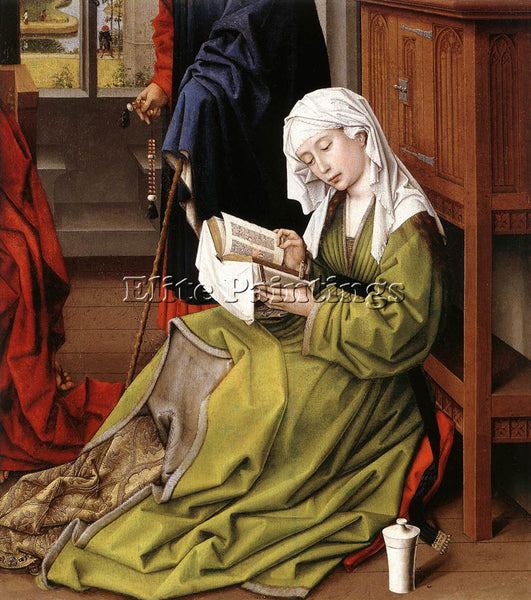 VAN DER WEYDEN THE MAGDALENE READING ARTIST PAINTING REPRODUCTION HANDMADE OIL