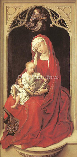 VAN DER WEYDEN VIRGIN AND CHILD DURAN MADONNA ARTIST PAINTING REPRODUCTION OIL