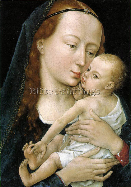 VAN DER WEYDEN VIRGIN AND CHILD ARTIST PAINTING REPRODUCTION HANDMADE OIL CANVAS