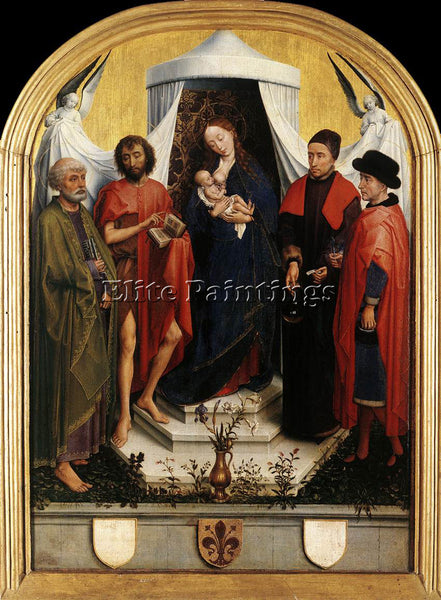 VAN DER WEYDEN VIRGIN WITH THE CHILD AND FOUR SAINTS ARTIST PAINTING HANDMADE