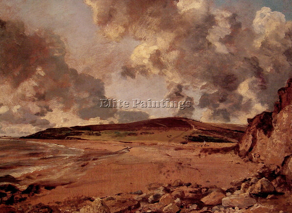 JOHN CONSTABLE WEYMOUTH BAY ARTIST PAINTING REPRODUCTION HANDMADE OIL CANVAS ART