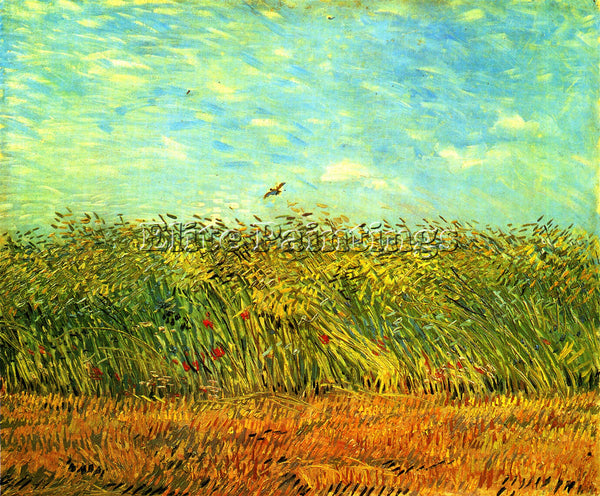 VAN GOGH WHEAT FIELD WITH A LARK ARTIST PAINTING REPRODUCTION HANDMADE OIL REPRO