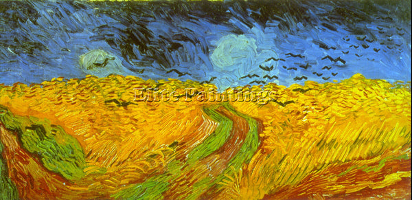 VAN GOGH WHEATFIELD ARTIST PAINTING REPRODUCTION HANDMADE CANVAS REPRO WALL DECO