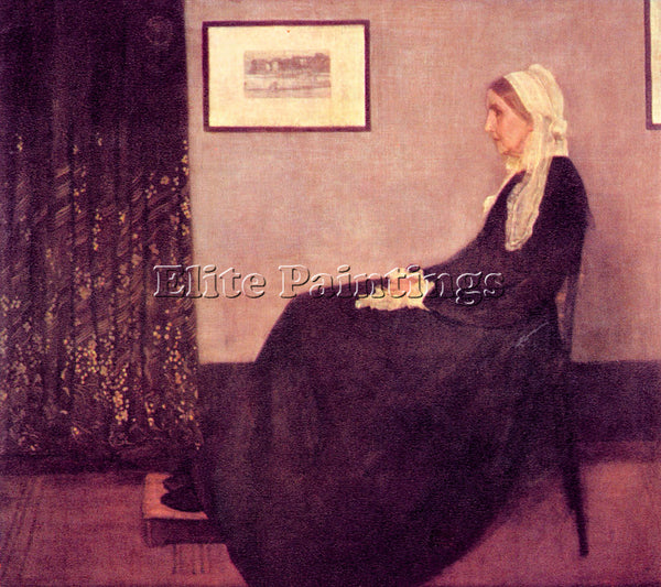JAMES ABBOT MCNEILL  WHISTLER S MOTHER WHISTLER ARTIST PAINTING REPRODUCTION OIL
