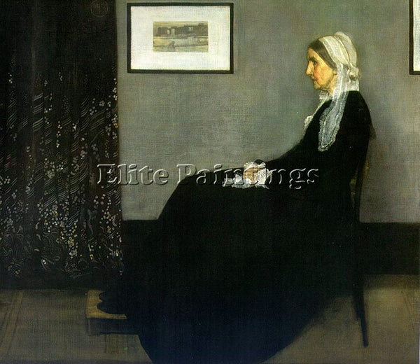 WHISTLER JAMES ABBOTT MCNEILL ARRANGEMENT IN GREY AND BLACK ARTIST PAINTING OIL