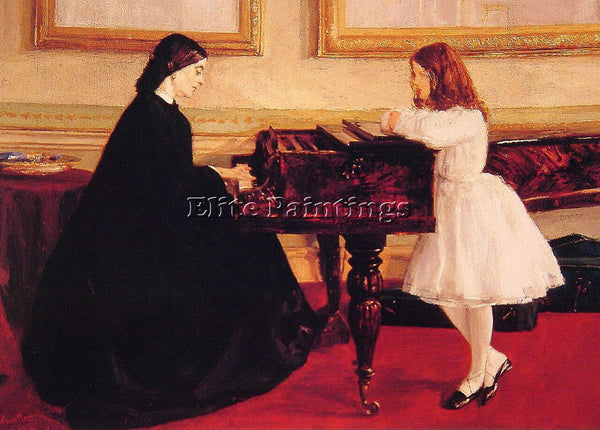 WHISTLER JAMES ABBOTT MCNEILL AT THE PIANO ARTIST PAINTING REPRODUCTION HANDMADE