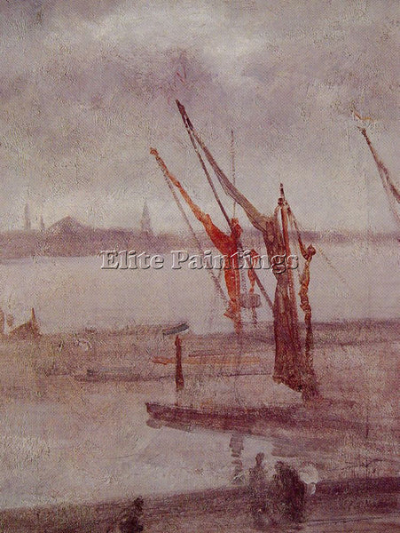 WHISTLER JAMES ABBOTT MCNEILL CHELSEA WHARF GREY AND SILVER ARTIST PAINTING OIL