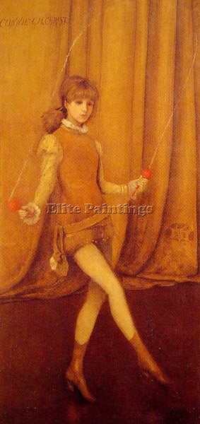 WHISTLER MCNEILL HARMONY IN YELLOW AND GOLD GOLD GIRL CONNIE GILCHRIST PAINTING