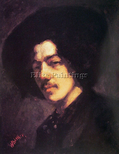 WHISTLER JAMES ABBOTT MCNEILL PORTRAIT OF WITH HAT ARTIST PAINTING REPRODUCTION