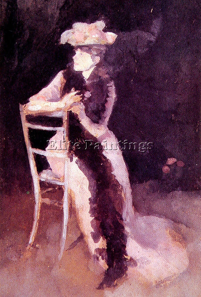 WHISTLER JAMES ABBOTT MCNEILL ROSE AND SILVER PORTRAIT OF MRS WHIBLEY ARTIST OIL
