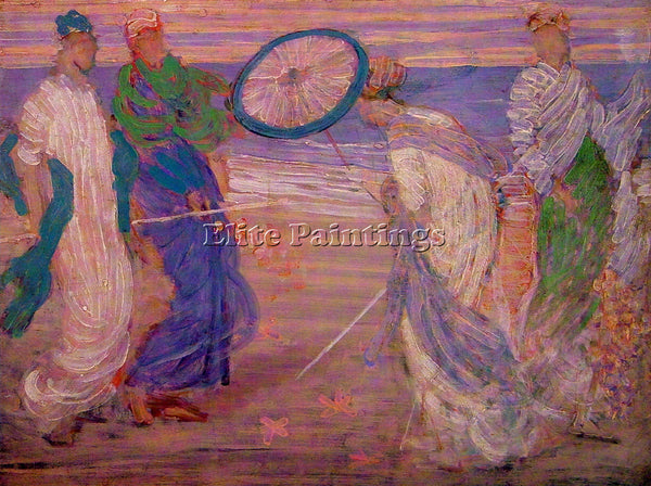 WHISTLER JAMES ABBOTT MCNEILL SYMPHONY IN BLUE AND PINK ARTIST PAINTING HANDMADE