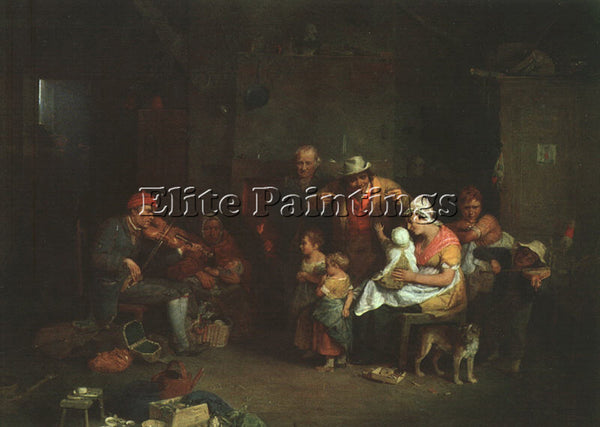 BRITISH WILKIE SIR DAVID ENGLISH 1785 1841 ARTIST PAINTING REPRODUCTION HANDMADE