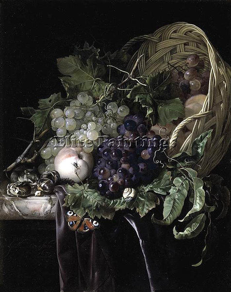 HOLLAND WILLEM VAN AELST FRUIT STILL LIFE ARTIST PAINTING REPRODUCTION HANDMADE