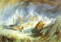 WILLIAM TURNER A STORM SHIPWRECK ARTIST PAINTING REPRODUCTION HANDMADE OIL REPRO