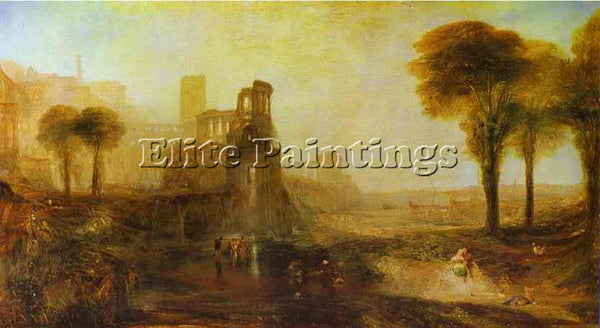 WILLIAM TURNER CALIGULA S PALACE AND BRIDGE ARTIST PAINTING HANDMADE OIL CANVAS