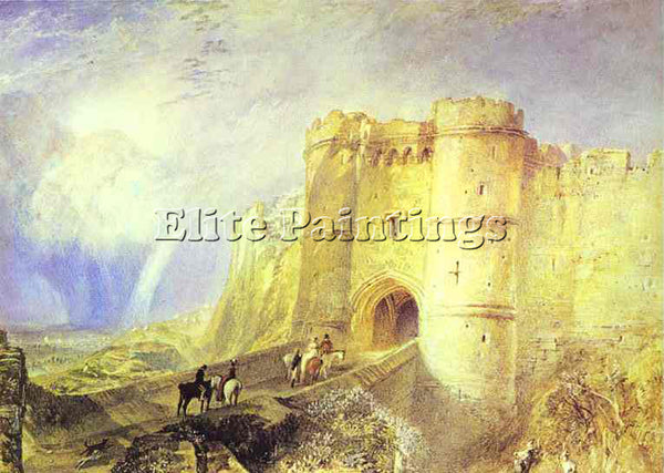 WILLIAM TURNER CARISBROOK CASTLE ISLE OF WIGHT ARTIST PAINTING REPRODUCTION OIL