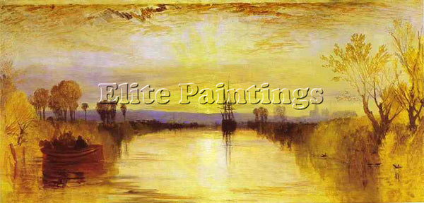 WILLIAM TURNER CHICHESTER CANAL ARTIST PAINTING REPRODUCTION HANDMADE OIL CANVAS