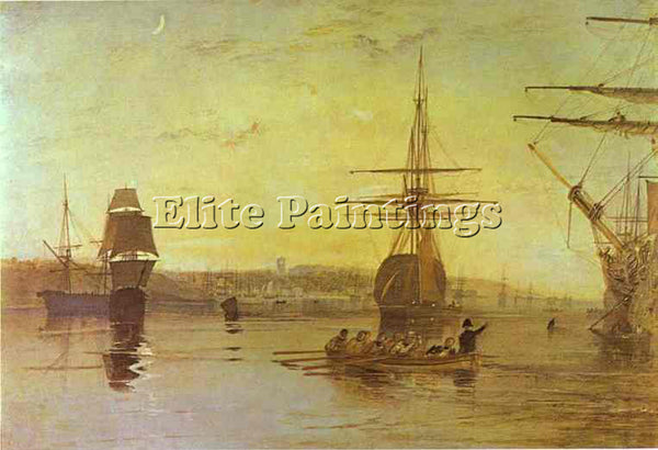 WILLIAM TURNER COWES ISLE OF WIGHT ARTIST PAINTING REPRODUCTION HANDMADE OIL ART