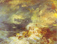 WILLIAM TURNER FIRE AT SEA ARTIST PAINTING REPRODUCTION HANDMADE OIL CANVAS DECO
