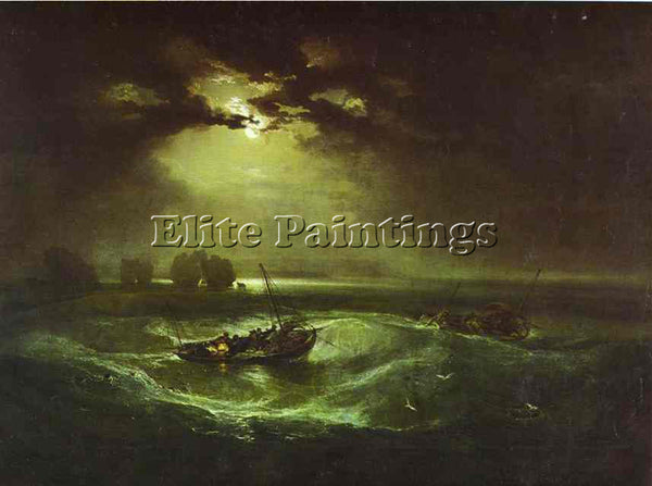 WILLIAM TURNER FISHERMEN AT SEA ARTIST PAINTING REPRODUCTION HANDMADE OIL CANVAS
