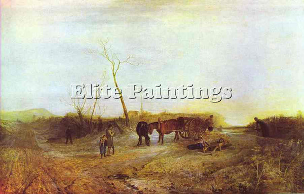 WILLIAM TURNER FROSTY MORNING ARTIST PAINTING REPRODUCTION HANDMADE CANVAS REPRO