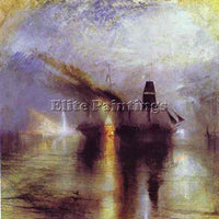WILLIAM TURNER PEACE BURIAL AT SEA ARTIST PAINTING REPRODUCTION HANDMADE OIL ART