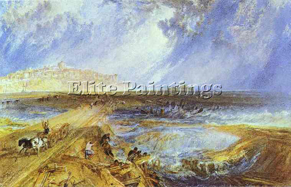 WILLIAM TURNER RYE SUSSEX ARTIST PAINTING REPRODUCTION HANDMADE OIL CANVAS REPRO